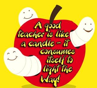 Un buen docente es como una candela- se consume a medida que  ilumina el camino